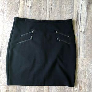 Paige L Edgemont Knit Zipper Mini Pencil Skirt